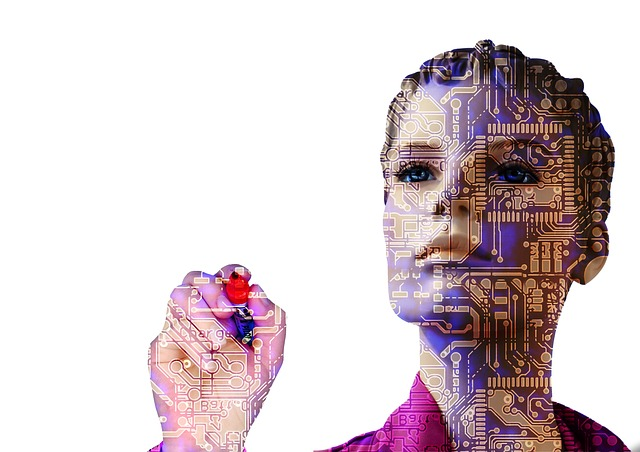 Cyber-woman representing artificial intelligence - one of the biggest BI trends in 2020