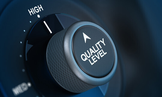 Visialize high data quality level