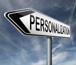 personalization sign