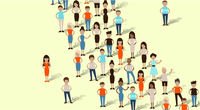 Crowd of people illustrating the intended audieince you should target