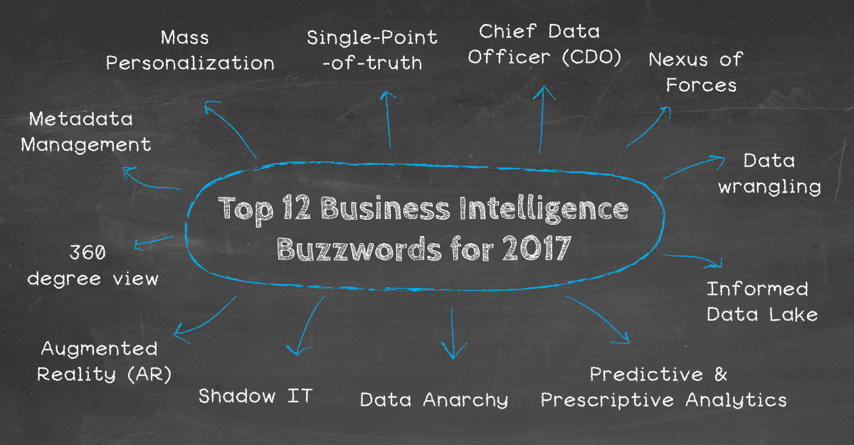 Overview of the top 12 Business Intelligence Buzzwords 2017