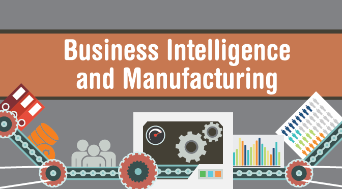 illustration of business intelligence in the manufacturing industry