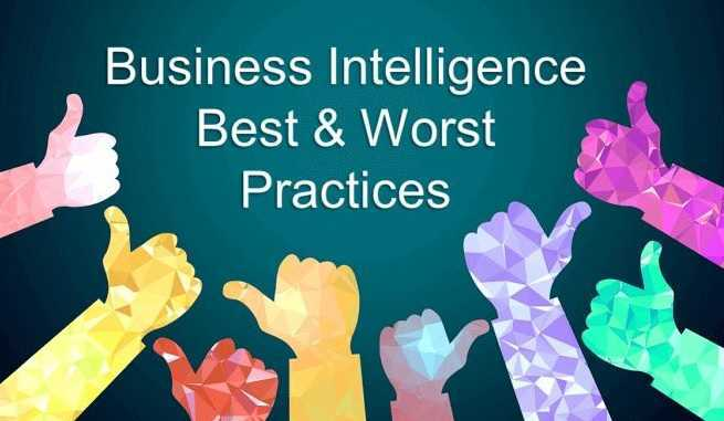Illustration of business intelligence best and worst practices
