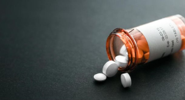 Bottle of pills - opioids abuse in the US is one of the greatest death cause