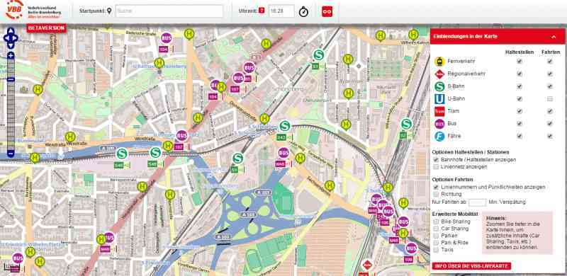 Interactive Data Visualization Example of Berlin Traffic
