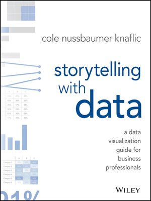 best data science book: Storytelling With Data by Cole Nussbaumer Knaflic