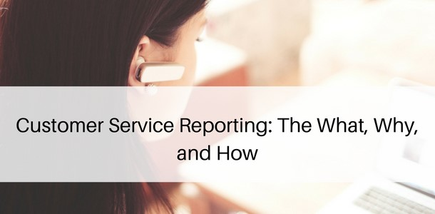 customer service reports help in improving the productivity and performance of your business.