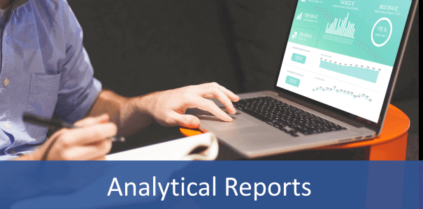 Analytical reports can be made on a laptop using a reporting software