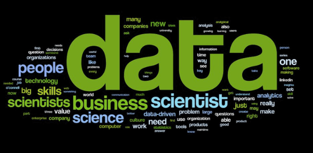 Data, business. science - word cloud representation
