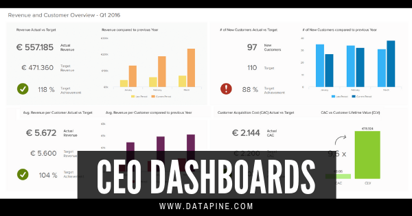 CEO dashboards by datapine