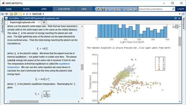 MATLAB data science tool example