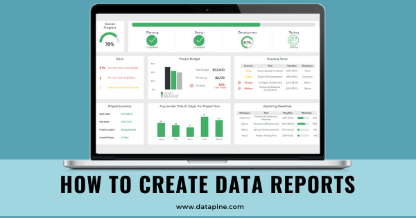 How to create data reports by datapine.