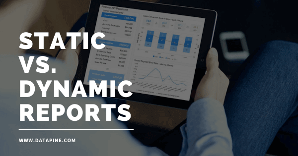 Static vs dynamic reports by datapine