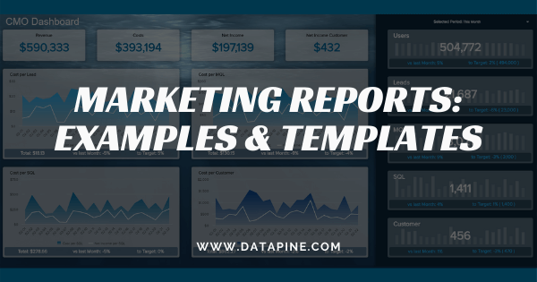 Marketing reports and KPIs for daily, weekly or monthly reporting
