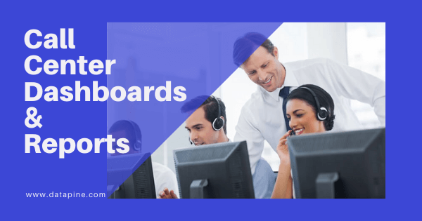 Call center dashboards and reporting by datapine