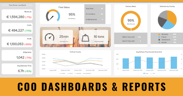 COO dashboards and reports by datapine.