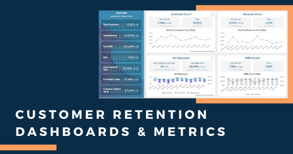 Customer retention dashboard and metrics examples by datapine.