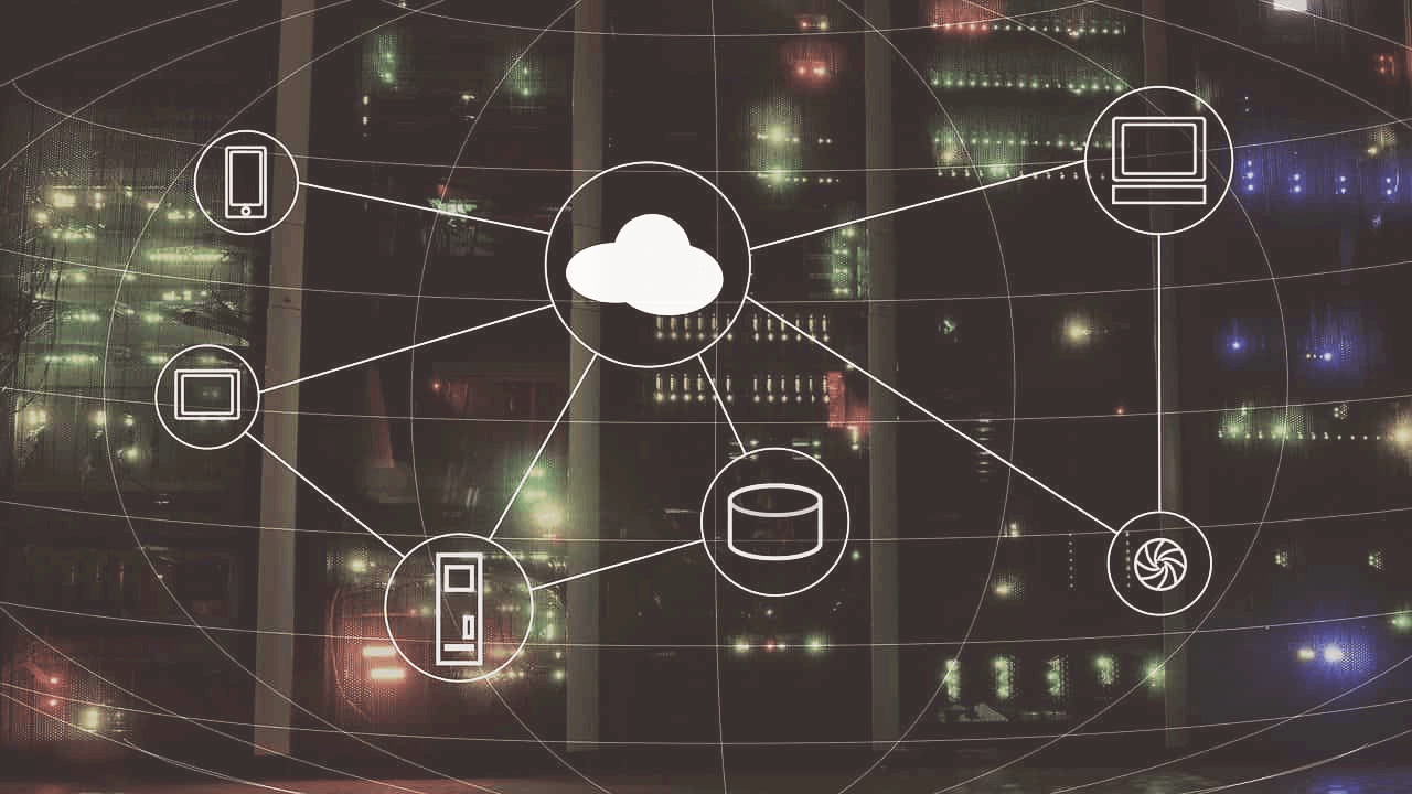 An abstract picture of cloud connecting various technologies