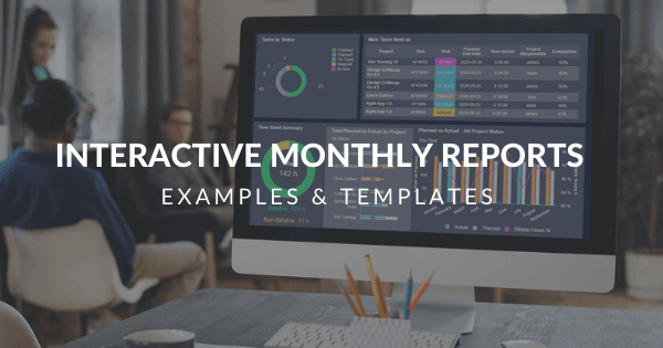 Monthly reports blog post by datapine