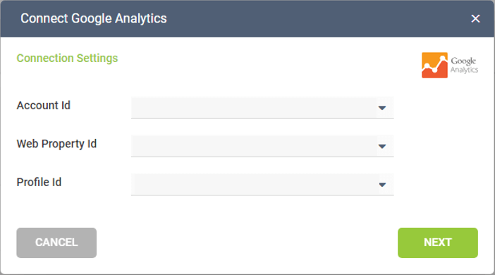 Connecting the specific Google Analytics Account