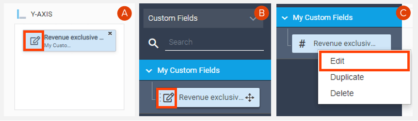 How to edit a calculated field