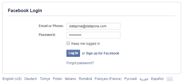 Facebook connect login success