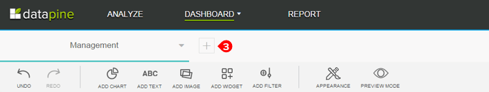 How to add a new tab to a datapine dashboard