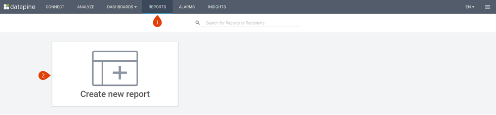 How to create a standard report
