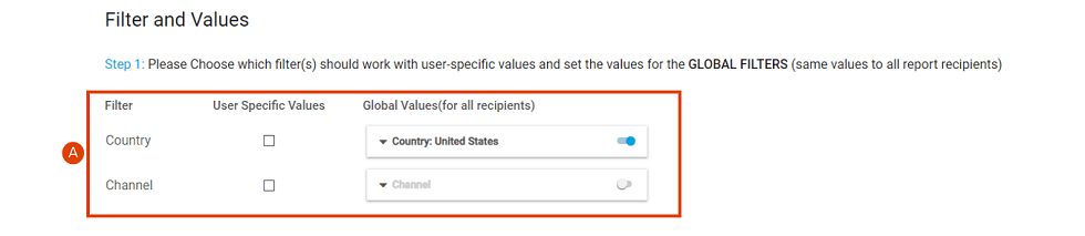 How to set global filter for a customized report