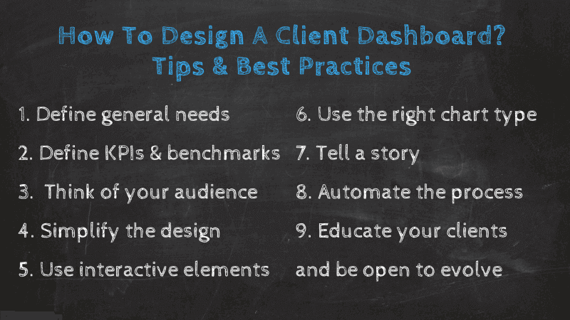 overview of important client dashboard best practices