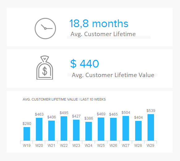 Datenvisualisierung zum Customer Lifetime Value