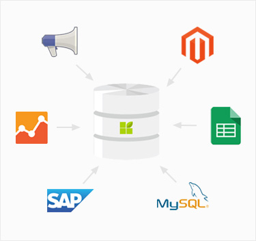 datapine's data connectors and data warehouse enable you to bringt all your data togehter in a single place