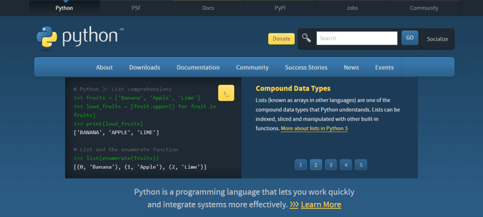 One of the most useful general-purpose programming languages for data analysts: Python